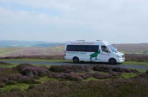 Image of a Mountain Goat Tours minibus
