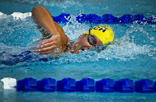Image of somebody swimming